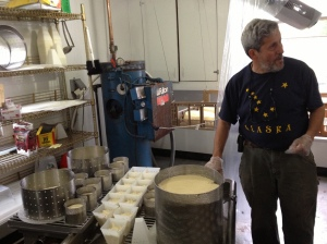 Jonathan cheesemaking