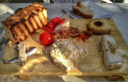 Starting the meal with the cheese board