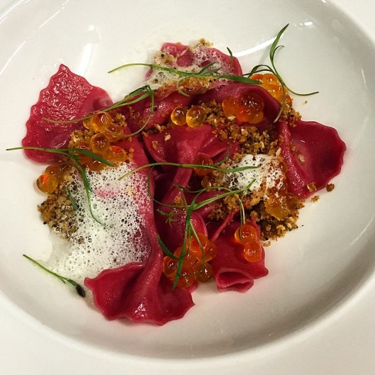 Stockton inn Hansen salmon roe - Photo credit Peter Breslow