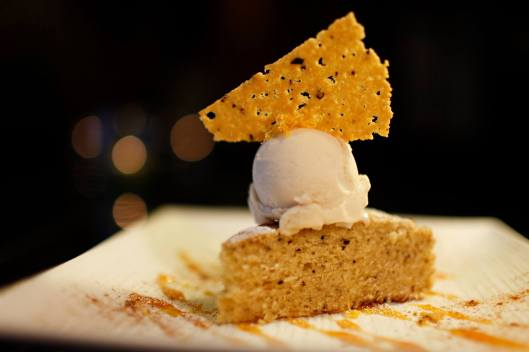 Olive Oil Cake w/Orange Blossom Ice Cream